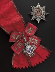 Every Russian Grand Duchess was conferred the Grand Cross of the Order of St. Catherine at her christening (or marriage into the Romanov family), and Princesses of the Imperial Blood were invested upon attaining their majority at russia diamond brooch Tsar Nicolas Ii, Tsar Nicholas, Catalina La Grande, Grand Cross, Imperial Crown, Anastasia, Royal Jewelry, Jewellery, Imperial Russia