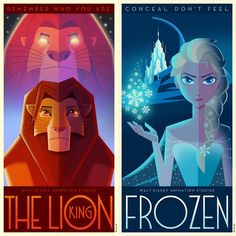 Disney Posters Go Art Deco