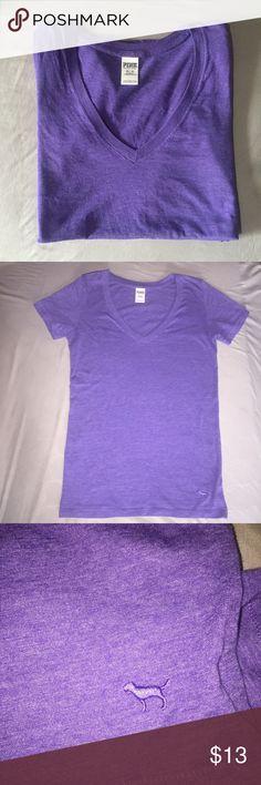NWOT VS PINK I have a NWOT VS PINK purple t-shirt. Size XS, v neck and super soft! Make an offer! PINK Victoria's Secret Tops Tees - Short Sleeve