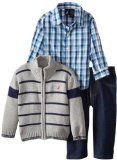 Nautica Baby-Boys Infant Zip Up Sweater Set Cotton Machine Wash Sweater, shirt, and pant included Comfortable fit