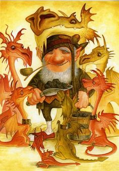 terry pratchett - dragons - art by Paul Kidby www.paulkidby.net