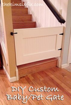 Because little doors are important too! Here's another DIY article for building custom baby/pet gates for your home. Why use ugly store bought gates when you can easily build an adorable custom one like this? DIY home. House Design, Home Projects, Diy Baby Gate, Home, Diy Baby Stuff, Home Diy, House, New Homes, Home Improvement