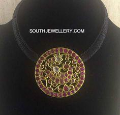 Black Dori Necklace with Peacock pendant