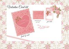 Pink Jar Valentines Card Kit