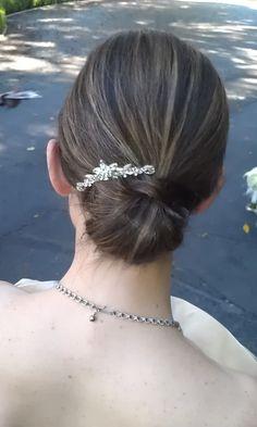 Messy effortless bridal bun Hair: Jenna Murray