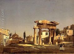The Gate of Agora in Athens, 1843 Painting by Ippolito Caffi Reproduction Most Famous Paintings, Famous Artists, Greece Painting, Oil Painting Reproductions, Athens Greece, Watercolor Landscape, Rome, Art Gallery, Cityscapes