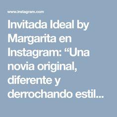 """Invitada Ideal by Margarita en Instagram: """"Una novia original, diferente y derrochando estilo!! Ideal @delriverodesignco 🖤 Vestidazo de @adrianariveradesing sombrero ideal por…"""""""
