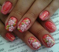 New Ideas Nails Ideas Squoval Art Designs Cute Nail Art, Beautiful Nail Art, Cute Nails, Pretty Nails, Different Nail Designs, Cool Nail Designs, Fabulous Nails, Perfect Nails, Spring Nails