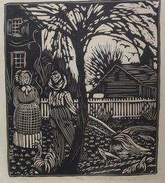 WHARTON ESHERICK (1887-1970), April, 40/50, Woodblock print