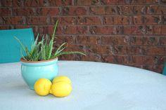 48 Ideas Concrete Patio Table Makeover For 2019 Wood Stamped Concrete, Concrete Crafts, Concrete Table Top, Concrete Patio, Resin Wicker Patio Furniture, Garden Furniture, Square Patio Table, Diy Concrete Countertops, Patio Wall