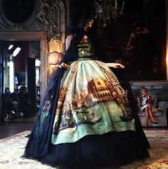 The Terrier and Lobster: Dolce & Gabbana Alta Moda (Couture) Fall/Winter 2013/2014 Canaletto Venice Prints