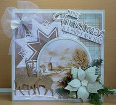 Card by DT member Astrid with Craftables Merry Christmas Tiny's Deer and Creatables Star XL by Marianne Design Christmas Scenes, Christmas Cards To Make, Diy Christmas Gifts, Xmas Cards, Handmade Christmas, Merry Christmas, Greeting Cards, 3d Cards, Pop Up Cards