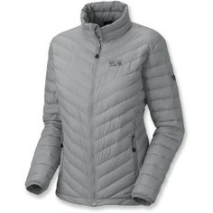 Mountain Hardwear Nitrous Down Jacket - Women's. This stuffs into a tiny little sac which is super lightweight. I keep it with me on those days that require layering. Fits under my shell when it's raining. Uber cozy.