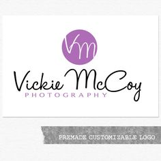 Photography Logo and Watermark Premade by ShannonOyler on Etsy, $25.00