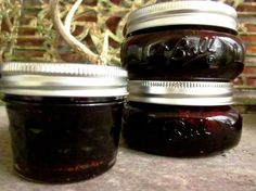 Strawberry preserves with black pepper and balsamic vinegar.  A friend gave me this for my birthday and I've been obsessing over getting to strawberry season to make my own!