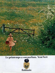 "SPRINGTIME is here ! ""Vent Vert"" by Pierre Balmain."