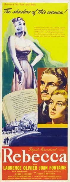 Rebecca (1940) Movie Posters For Sale, Classic Movie Posters, Original Movie Posters, Cinema Posters, Film Posters, Classic Movies, Old Movies, Vintage Movies, Vintage Posters