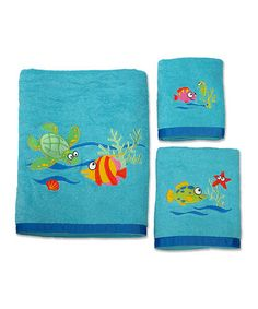 Love this Fish Tails Towel Set by Allure on #zulily! #zulilyfinds