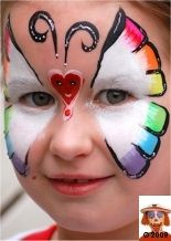 rainbow white butterfly black outline