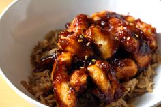 Honey Sriracha chicken--Uber good. Spicy, crispy, very very yummy! This is a must try