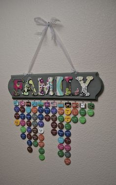 Family birthday & anniversary sign; never forget a special date again again!! This one has instructions and a supply list.