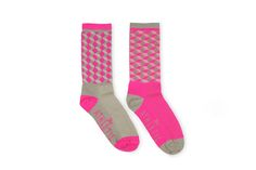 Pink socks. The Athletic