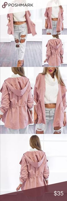 NWT✨ Light Pink Drawstring Trench Coat 💕 ✨ Brand new with Tags ✨ Material: Cotton Blend & Polyester   🔸PRICE IS FIRM- already listed at lowest price  🔸If you want to save please look into bundling  🔸In Stock 🔸No Trades & NO HOLDS  🔸Will ship within 24- 48 hours Monday-Friday  🚫Please -NO- Offers on items priced $10 and under AND ON SALE ITEMS‼️  🚫Serious Inquiries Only❣️  🔹Bundle one or more items from my boutique to only pay one shipping fee✨ Jackets & Coats Trench Coats