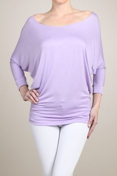 Online Clothing Boutique | Kelly Brett Boutique - Piko Dolman Tunic Lilac, $22.00 (http://www.kellybrettboutique.com/piko-dolman-tunic-lilac/)