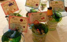 Our Adult Easter egg hunt!  One drink recipe per person to get the party started!  This year's theme was martini's