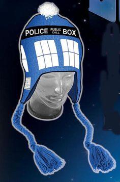Doctor Who TARDIS hat. I want this sooooo bad. So so bad.
