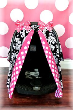 DAMASK car seat canopy car seat cover hot pink by JaydenandOlivia, $37.99