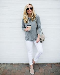 I'm loving how versatile the new Time and Tru line is - from trendy daytime pieces to cozy athleisure just like this! This pullover is… White Jeans Outfit Summer, Summer Outfits, Jean Outfits, Athleisure, Cozy, Pullover, Pants, Instagram, Fashion