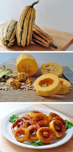 Maple Glazed Squash Rings