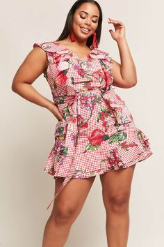 3fd909fce Product Name Plus Size Floral Flounce Dress