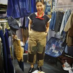 สอบถามรายละเอียดเพิ่มเติมได้เลยเน้อ #farmerrangers #patchworkpants #stitching #handstitched #boro #sashiko #denimstyle #handmadewear…