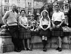 A 1972 photo of Queen Elizabeth II with her husband Prince Philip, and her children Prince Andrew, (rear), Prince Edward, Princess Anne, and...