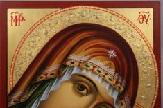The Virgin Glykofilousa Hand-Painted Icon - BlessedMart Paint Icon, Byzantine Icons, Religious Icons, Orthodox Icons, Hand Painted
