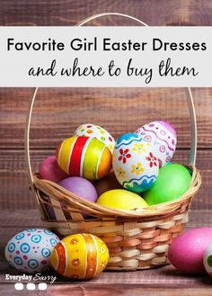 Favorite girl Easter dresses and where to buy them. Easter dress for little girls, babies and tweens. Fun florals, dots and more!