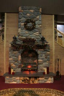 Styrofoam Fireplace Stage Prop. http://www.originalabstractart.net ...