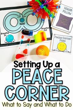 Calm Corners or Peace Corners or Cool Down Spots are a great way to promote students' emotional regulation. Read here about how to teach students how to use them and how to solve common problems teachers have with them! Teaching Procedures, Student Teaching, Teaching Tips, Emotional Regulation, Self Regulation, Classroom Organization, Classroom Management, Behavior Management, Classroom Ideas