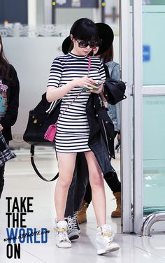 Park Bom airport fashion is one of the best!