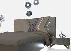 DREAMLINE collection. on Behance Wardrobe Design Bedroom, Bedroom Furniture Design, Modern Bedroom Design, Master Bedroom Design, Bed Furniture, Bed Headboard Design, Headboards For Beds, Wood Bed Design, Sofa Design