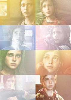 the last of us → Ellie-- lots of life in these character models. Definitely shows the amount of detail and care they put into making this game