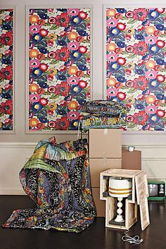 Blazing Poppies Wallpaper - anthropologie.com