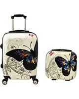 World Traveler 2 Piece Hardside Upright Spinner Luggage Set