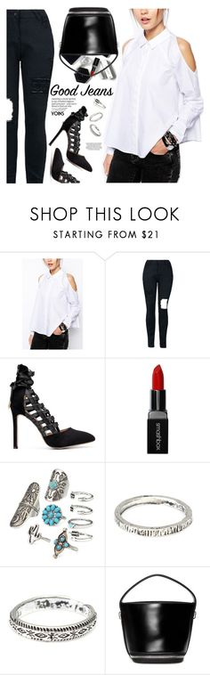"""""""Good Jeans - #Yoins"""" by yexyka ❤ liked on Polyvore featuring H&M, Smashbox and vintage"""