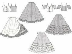 disfraz de cancán con patrones simples para coser en casa   Trato o truco