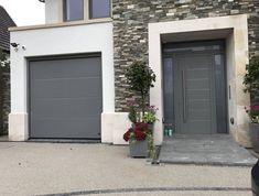 New house modern garage front doors ideas Porch Designs Uk, Front Porch Design, Garage Door Design, House Plans Uk, Porch House Plans, Modern Front Porches, Modern Front Door, Garage Door Makeover, Home Exterior Makeover