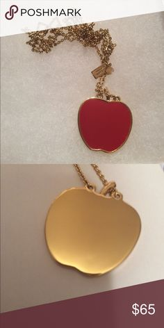 ⬇️ PRICE DROP ⬇️ Kate Spade Apple Pendant Necklace Kate Spade Long Chained Apple Pendant Necklace - EXCELLENT CONDITION! kate spade Jewelry Necklaces
