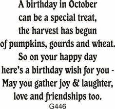 October Birthday Greeting - DRS Designs